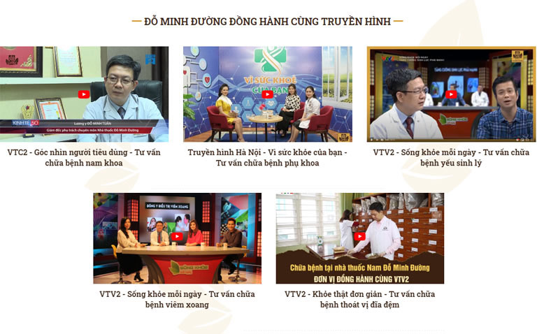 Một số chương trình truyền hình có sự tham gia của lương y Đỗ Minh Tuấn