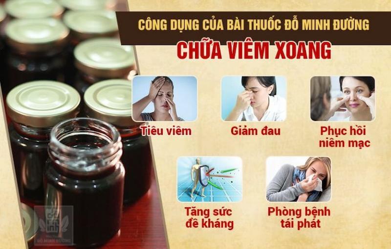 Công dụng bài thuốc chữa viêm đa xoang Đỗ Minh Đường