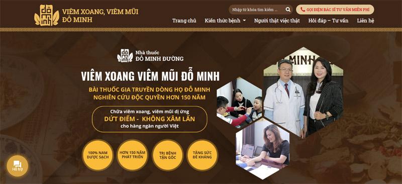 Nhà thuốc nam Đỗ Minh Đường ra mắt website viemxoangdominh.com