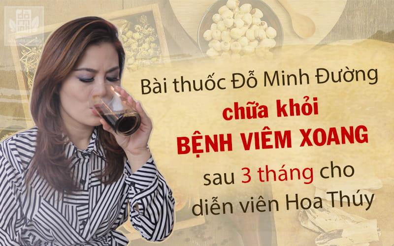 Diễn viên Hoa Thúy kiên trì sử dụng bài thuốc Đỗ Minh Đường trong 3 tháng