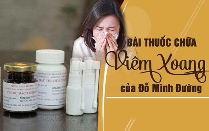 Bài thuốc chữa viêm xoang Đỗ Minh Đường cực kỳ an toàn và hiệu quả