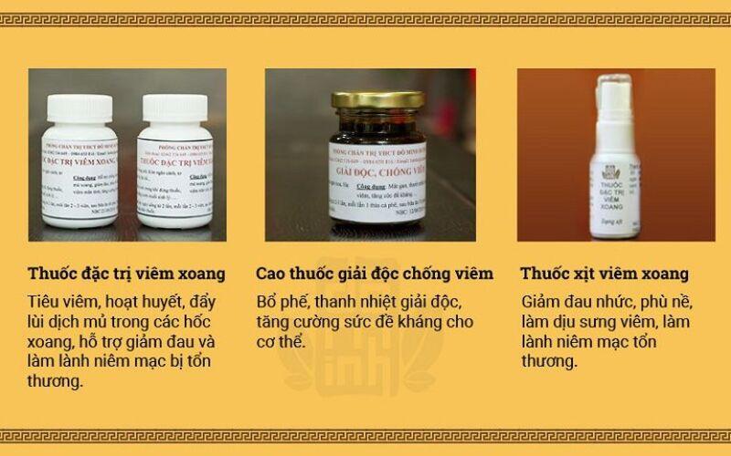 Đây là cả 3 phương thuốc trong liệu trình Viêm xoang Đỗ Minh hoàn chỉnh